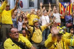 Concentració a l'Ajuntament per l'Aturada General 3-O
